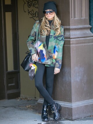 「Balenciaga Flat Moto Ankle Boot w/Buckles(Balenciaga)」 using this LaurenRecchia looks