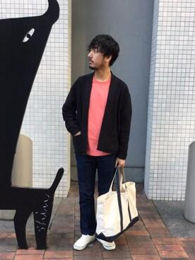 アーバンリサーチ 金沢百番街Rinto店|moriyamaさんのTシャツ/カットソー「WORK NOT WORK ピグメントラウンドへムポケットTシャツ(WORK NOT WORK URBAN RESEARCH|ワーク ノット ワーク アーバンリサーチ)」を使ったコーディネート