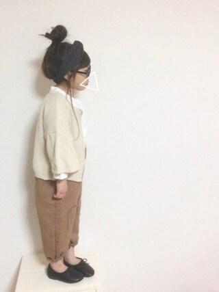 aya*tomoさんの「amitieジュニア用甲深ふわふわバレエシューズ/キッズパンプス靴(amitie|アミティエ)」を使ったコーディネート