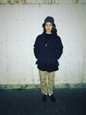 東條朱賀さんの「WARREN SCOTT×BEAMS BOY / ロールネック セーター 16(BEAMS BOY|ビームスボーイ)」を使ったコーディネート