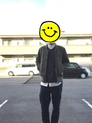 マリモさんの「ジャパンメイドOXシャツ(nano・universe|ナノユニバース)」を使ったコーディネート