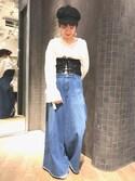 ミユキさんの「【3/24放映!ヒルナンデス掲載アイテム】アソートバギーパンツ/742280(JEANASIS|ジーナシス)」を使ったコーディネート
