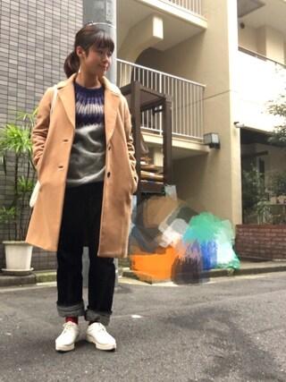 Miiiiiさんの「5968-1405 LEATHER WING TIP SNEAKER(ROSE BUD|ローズバッド)」を使ったコーディネート