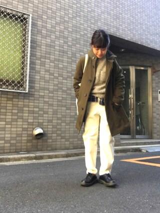 Miiiiiさんの「【Morris & Sons】ポケット付きクルーネックプルオーバー WOMEN(Morris & Sons|モリスアンドサンズ)」を使ったコーディネート