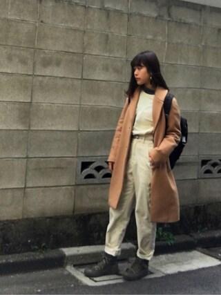 Miiiiiさんの「ウエストタックコーデュロイパンツ【CLUEL10月号掲載】(Maison de Beige|メゾンドベージュ)」を使ったコーディネート