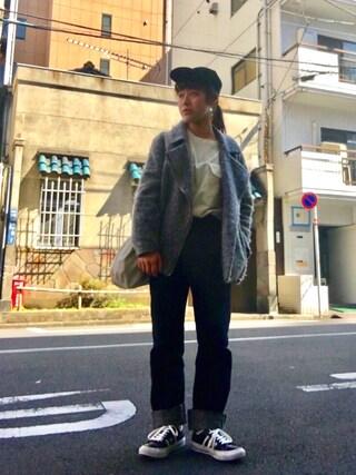 Miiiiiさんの「【Omekashi】シャギーライダースジャケット(Omekashi|オメカシ)」を使ったコーディネート