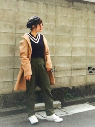 Miiiiiさんの「Vネック トップ(Traditional Weatherwear トラディショナルウェザーウェア)」を使ったコーディネート