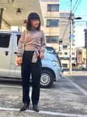 Miiiiiさんの「<6(ROKU)>CACHE COEUR KNIT/カーディガン(BEAUTY&YOUTH UNITED ARROWS|ビューティアンドユースユナイテッドアローズ)」を使ったコーディネート