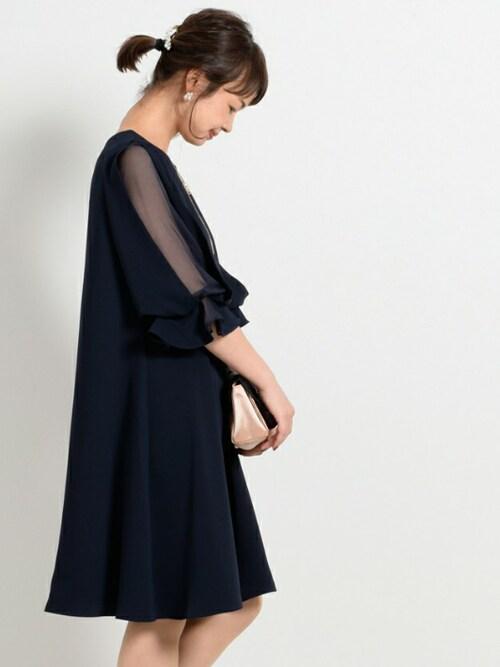 ネイビードレス