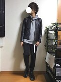 おちびさんの「STUDIOUS ソフトラムシングルライダース-made in japan-(STUDIOUS|ステュディオス)」を使ったコーディネート