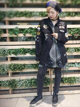 AVIREX 新宿|mikuさんの(AVIREX|アヴィレックス)を使ったコーディネート