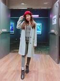 千千 is wearing ZARA