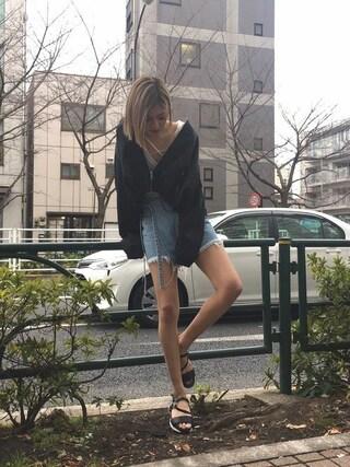 EMODA渋谷109店|徳永美乃里さんの「ショートボリューム MA-1(EMODA|エモダ)」を使ったコーディネート
