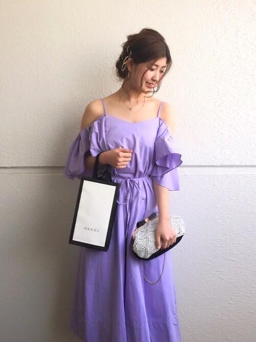 結婚式パープル色コーデ