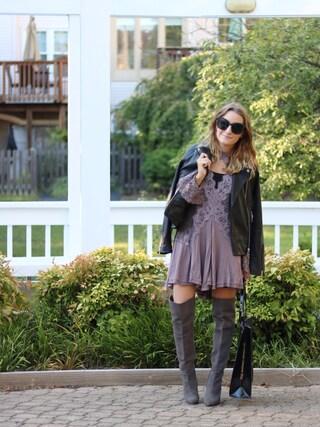 「Topshop Real leather biker jacket(Topshop)」 using this kaitelizabeth looks