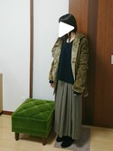 nakajiさんの「DOORS ハミルトンウールVネックニット(URBAN RESEARCH DOORS WOMENS アーバンリサーチ ドアーズ ウィメンズ)」を使ったコーディネート
