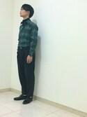 EZAKIさんの「ウォームタックイージーパンツ(ADAM ET ROPE'|アダム エ ロペ)」を使ったコーディネート