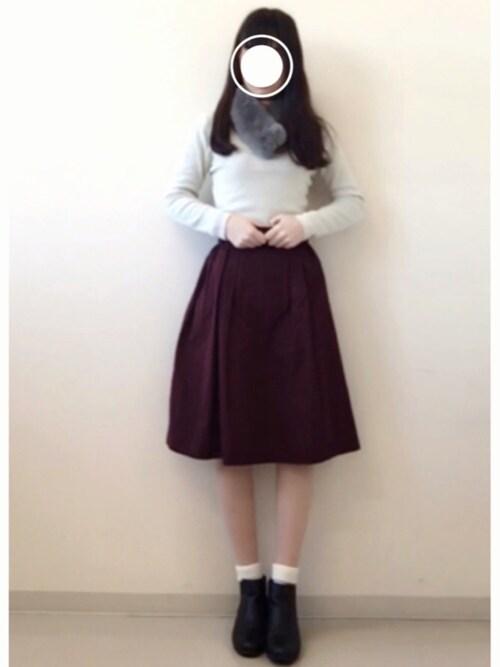 れ。さんの「Shaka shaka skirt(The Dayz tokyo)」を使ったコーディネート