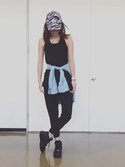 「【Nike】loose support tank(NIKE)」 using this RISA looks