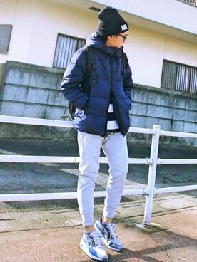 ikka LOUNGE|魔女っ子ペニ子さんのダウンジャケット/コート「ファイバー中綿フーデッドコート              (ikka|イッカ)」を使ったコーディネート