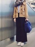 YUKAさんの「○UWBT T/R ストレッチ ワイド パンツ(UNITED ARROWS|ユナイテッドアローズ)」を使ったコーディネート