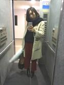 mitsuoさんの「【2WAY】リバーシブルフェイクムートンコート(ROPE' PICNIC|ロペピクニック)」を使ったコーディネート
