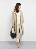 RINAさんの「Oriens S100 wool チェスターコート_#(JOURNAL STANDARD relume|ジャーナルスタンダード レリューム)」を使ったコーディネート
