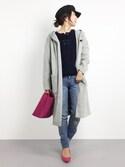 RINAさんの「Super120'sフードコート(UNITED TOKYO|ユナイテッドトウキョウ)」を使ったコーディネート