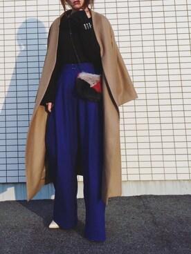 hoshi_romiさんの「AILE ダブルクロス 作務衣コート◆(IENA)」を使ったコーディネート