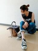 「ノースリロゴTシャツ(natural couture)」 using this Sporo* looks