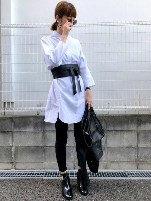 maichinさんの「ダブルレザーライダースジャケット(UNITED TOKYO)」を使ったコーディネート