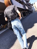 maichinさんの「ダブルレザーライダースジャケット(UNITED TOKYO|ユナイテッドトウキョウ)」を使ったコーディネート