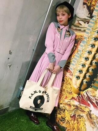 瀬戸あゆみさんの「ROMANCE TIGER ウエスタンワンピース(Aymmy in the batty girls|エイミー インザ バッティー ガール)」を使ったコーディネート