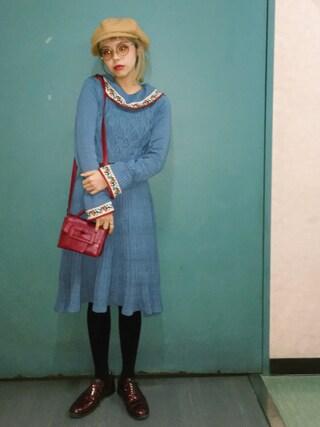 瀬戸あゆみさんの「FIRE CARNATION KNIT DRESS(PAMEO POSE|パメオポーズ)」を使ったコーディネート