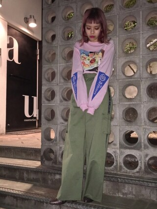 「FLIGHT MEAL L/S Tシャツ(Aymmy in the batty girls)」 using this 瀬戸あゆみ looks