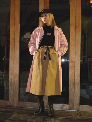 「AIR TRIPナイロンコート(Aymmy in the batty girls)」 using this 瀬戸あゆみ looks