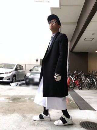 「Valentino Striped Leather Sneakers(Valentino)」 using this Satoru looks