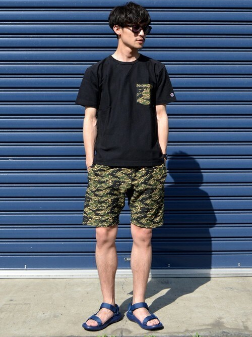 23度 服装 メンズコーデ ショートパンツ 画像1