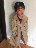 kaeさんの「BOYS ドライストレッチスウェットパンツ(ユニクロ|ユニクロ)」を使ったコーディネート