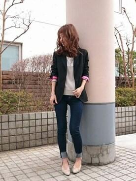 Q吉祥寺PARCO店|takanoさんの「クラシカル ジャケット(Q)」を使ったコーディネート