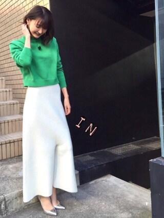 「5G綿ナイロンニットトップス(DOUBLE STANDARD CLOTHING)」 using this 美優 looks