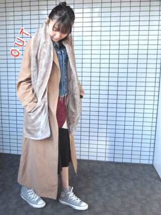 「FUR STOLE(Ameri)」 using this 美優 looks