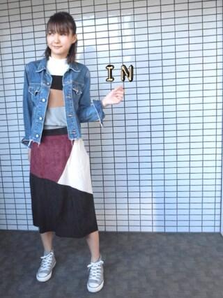 「CUT OFF DENIM JK(MOUSSY)」 using this 美優 looks
