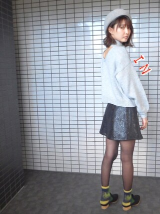 「BASQUE BERET(MOUSSY)」 using this 美優 looks