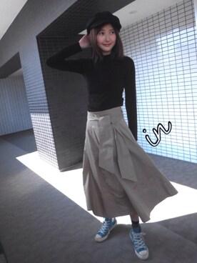 美優さんのニット/セーター「コンパクトニット(MURUA|ムルーア)」を使ったコーディネート