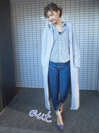 「FOODED KNIT COAT(Ameri)」 using this 美優 looks