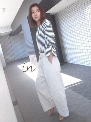 「UR 袖リボンカットソー(URBAN RESEARCH)」 using this 美優 looks