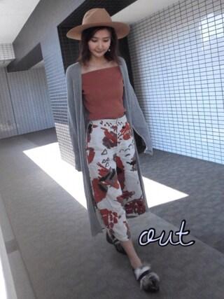 「フェルトハット(snidel)」 using this 美優 looks