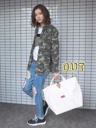 「【CASUAL】BACK切替シャツ(jouetie)」 using this 美優 looks