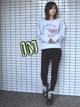 「リメイクロゴスウェット(Ungrid)」 using this 美優 looks